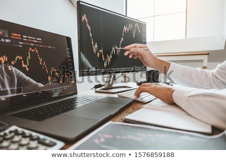 üzleti csapat beruházás vállalkozó kereskedés megbeszél elemzés Stock fotó © snowing