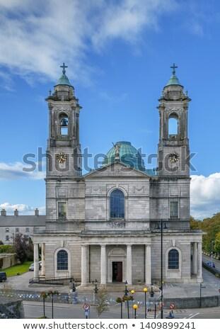 Stock fotó: Templom · Írország · római · katolikus · város · kék