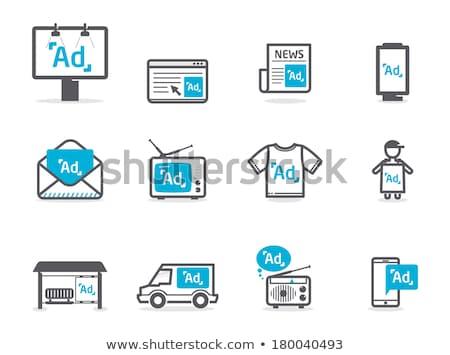 Zewnątrz reklama mediów reklamy wektora kobieta Zdjęcia stock © robuart