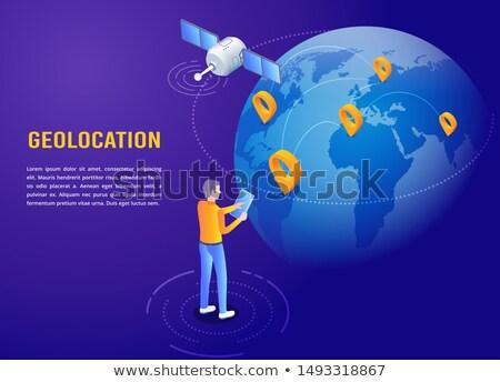 Mundo 3D vector teléfono móvil Foto stock © robuart