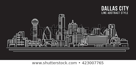 Dallas blanco negro silueta simple turismo Foto stock © ShustrikS