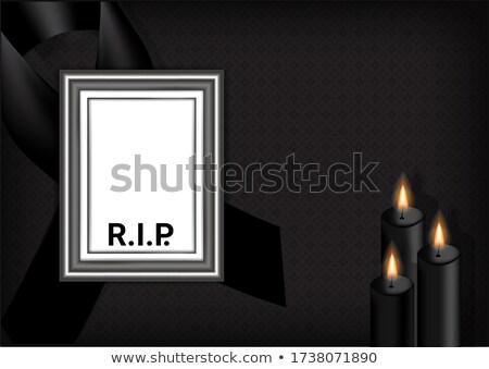 Preto fita vela isolado luz morto Foto stock © Imaagio