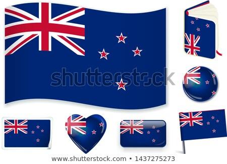 Zászló Új-Zéland forma szív felirat szeretet Stock fotó © butenkow