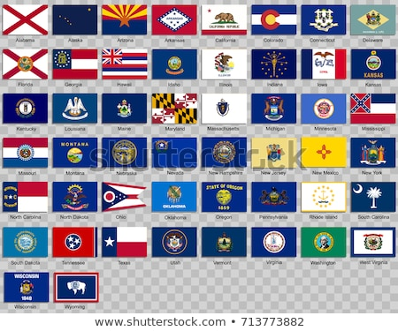 Vector set of flags of the American state of North Dakota in different designs Stock photo © butenkow
