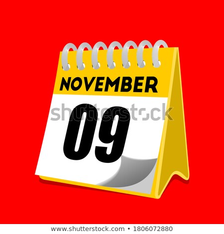 Simple black calendar icon with 9 november date isolated on white Stock photo © evgeny89