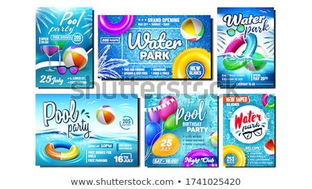 Parque acuático piscina fiesta promoción banners establecer Foto stock © pikepicture