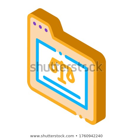 Court Folder Law And Judgement isometric icon vector illustration Stock photo © pikepicture