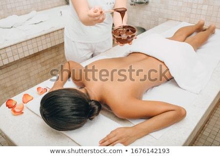 masaje · retrato · jóvenes · femenino · listo - foto stock © fotografci