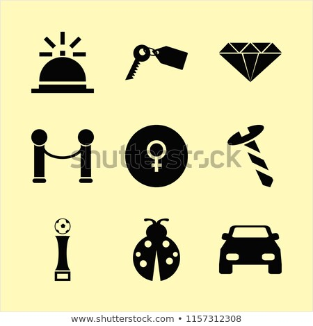 Female and male gender symbols with gems  Stock photo © Arsgera