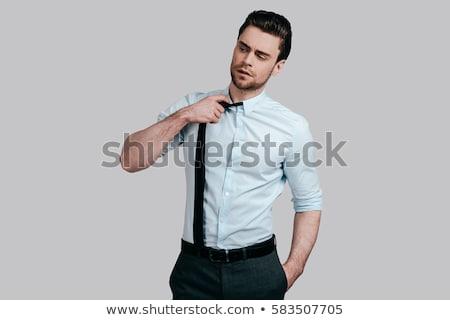 cansado · hombre · empate · blanco · empresario · hombres - foto stock © Paha_L