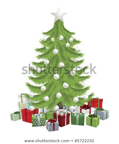 美しい 抽象的な クリスマスツリー フレーム ベクトル ストックフォト © damonshuck