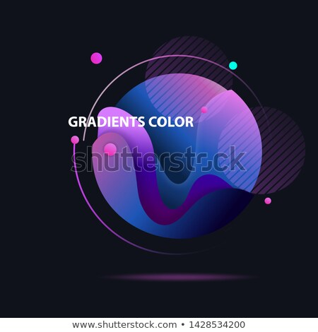 Dark Colored Spheres Orbit Stock photo © Mcklog