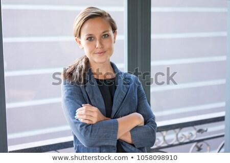 Kobieta trzydziestych twarz oczy portret Zdjęcia stock © photography33