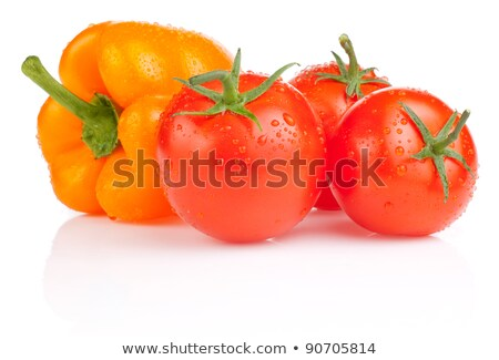 Pile of green Bell peppers with water droplets Stock photo © Balefire9