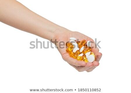 Három aszpirin izolált fehér Stock fotó © Givaga