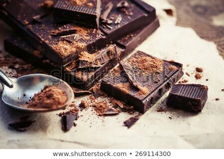Gehakt chocolade extreme stukken geïsoleerd Stockfoto © elly_l