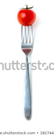 Koktélparadicsom villa ízletes piros gyönyörű ezüst Stock fotó © stevanovicigor