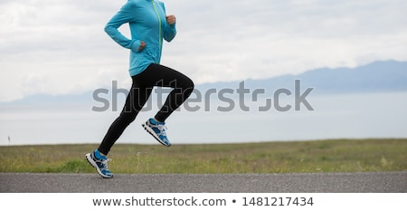 running girl Stock photo © zastavkin