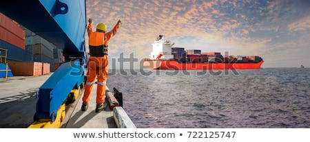 moored container ship Stock photo © Antonio-S