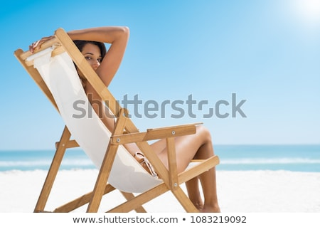 deckchairs  and sea Stock photo © njaj