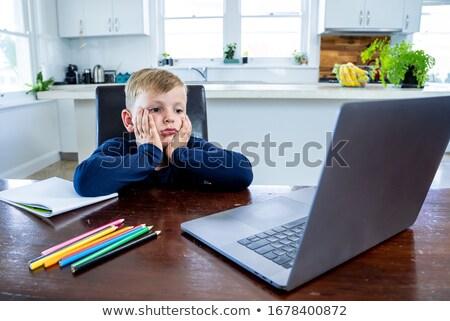 скучно · дети · детей · ребенка · волос · синий - Сток-фото © photography33