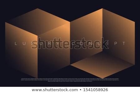 friday in 3d golden cubes Stock photo © marinini