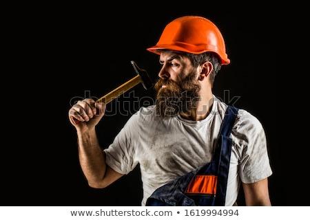 çekiç · kask · erkekler · iş · yüz · Bina - stok fotoğraf © photography33