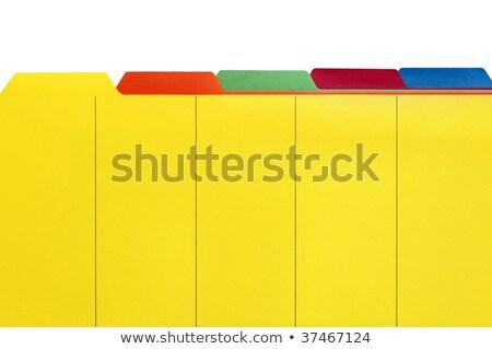 Citromsárga akta irodaszerek közelkép Stock fotó © devon