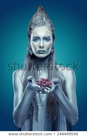 model with butterfly bodyart Stock photo © zastavkin