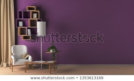 Moderno roxo cadeira minimalismo interior mobiliário Foto stock © Victoria_Andreas