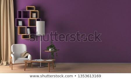Moderna púrpura silla minimalismo interior muebles Foto stock © Victoria_Andreas
