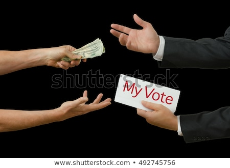 Businessman/politician taking bribe Stock photo © icefront