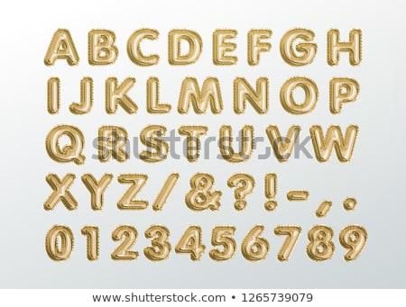 vintage · metal · cartas · números · pontuação · símbolos - foto stock © davinci