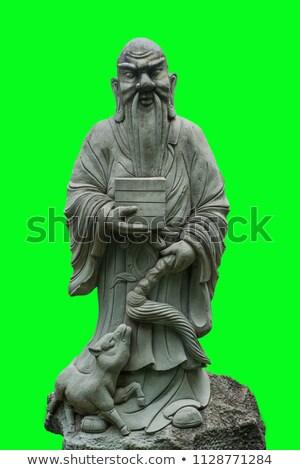 Çin taş heykel tapınak Tayland sanat Stok fotoğraf © jakgree_inkliang