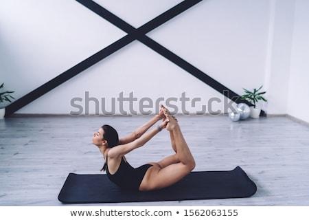 フィットネス · 黒 · インストラクター · 女性 · 幸せ - ストックフォト © dolgachov