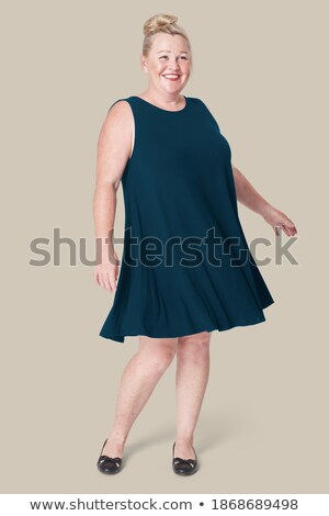 Plus Sized Model  Twirl Stock photo © lisafx