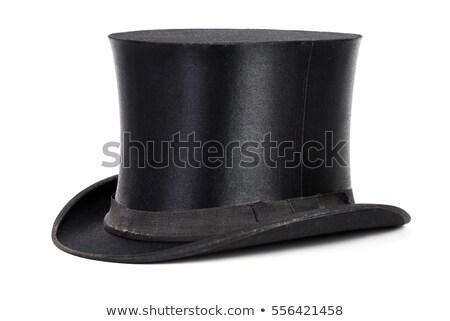 Black vintage hat Stock photo © homydesign