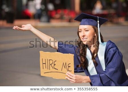 mnie · business · woman · karty · pokładzie - zdjęcia stock © iko
