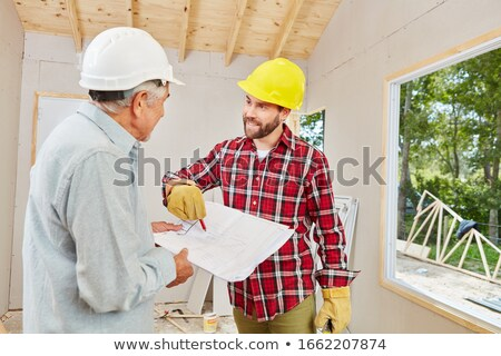 Foreman on building site Stock photo © photography33