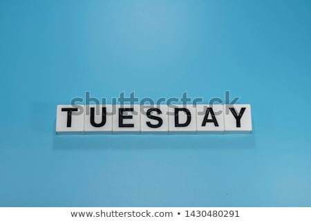 tuesday in 3d wooden cubes banner Stock photo © marinini