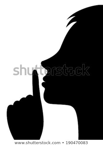 стороны рот девушки посмотреть страшно женщину Сток-фото © oneinamillion