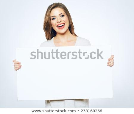 брюнетка Billboard красоту великолепный позируют Сток-фото © lithian