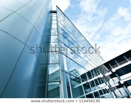 Perspektif açı görmek modern cam bina gökdelenler Stok fotoğraf © premiere
