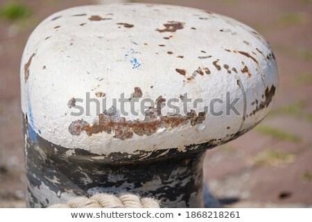 Schip touw verweerde steen textuur ruimte Stockfoto © stevanovicigor