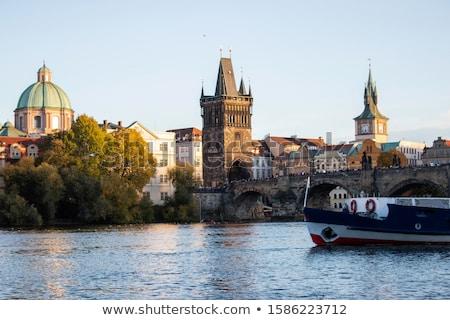 Prag sokaklarda yan güzel eski Çek Stok fotoğraf © stevanovicigor