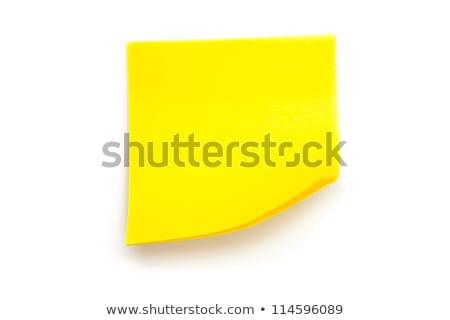 黄色 · 接着剤 · 注記 · 白 · 背景 - ストックフォト © wavebreak_media