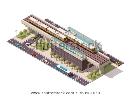 Vector Icon Elevated Railroad Stok fotoğraf © tele52