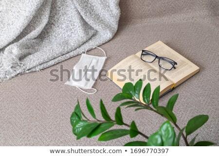 Szemüveg nyitott könyv kép fénykép klasszikus olvas Stock fotó © luckyraccoon