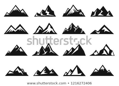 Stromy Hill odizolowany biały drogowego Zdjęcia stock © cteconsulting