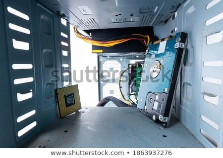 Primo piano mani cpu bianco tecnologia tech Foto d'archivio © wavebreak_media